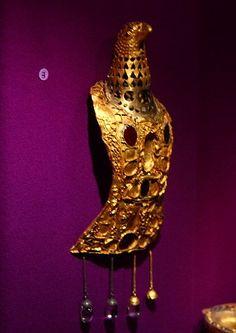 Pietroasele Treasure of Romania an eagle fibula (garment pin of Roman times) set with purple stones