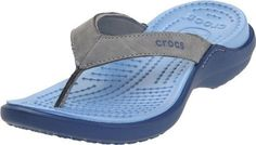 crocs Capri IV Crocs Womens Sandal,Silver/Bijou Blue,7 M US