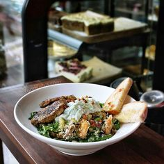 #Bali #ubud > an exotic taste at @watercressbali. Moroccan vegetables & Couscous salad with marinated mahi mahi: sour fresh crunchy and the sweet potato adds some sweet flavors. #monkeyforestubud
