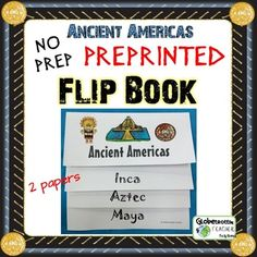 Print and fold!  A fun, hands-on organizational tool for reinforcing Maya, Aztec…