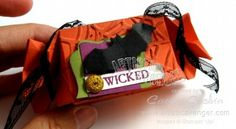 Stampin' Up!  Candy Wrapper  Carrie Gaskin Halloween