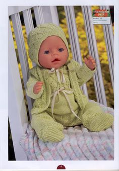 Album Archive - Dukketøj til Baby Born 2 - Ingelise Knitted Doll Patterns, Knitted Dolls, Baby Knitting Patterns, Baby Born Clothes, Pet Clothes, Knitting Dolls Clothes, Doll Clothes Patterns, Child Doll, Baby Dolls