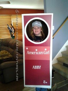 Coolest Homemade American Girl Doll in a Box Costume... Coolest Homemade Costumes