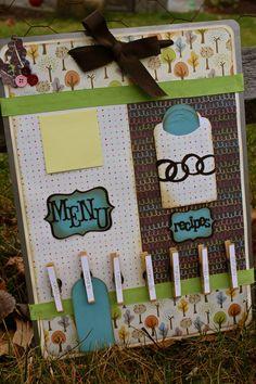 menu board, clothes pins