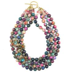 Colorful Collaborators necklace by Elva Fields #elvafields