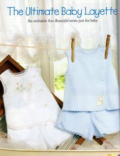 Jan/Feb 06 - Ultimate Baby Layette Diaper Shirt & Diaper Cover Love the boy's outfit Baby Boy Outfits, Kids Outfits, Layette Pattern, Baby Layette, Baby Embroidery, Vintage Baby Clothes, Baby Sewing Projects, Heirloom Sewing, Baby Shirts