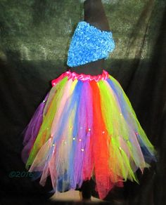 Fun and Festive Children's Beaded Tutu Skirt by NayomiInspired on Etsy