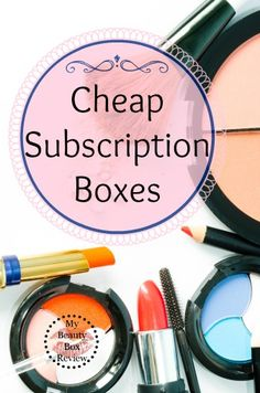 The Best Cheap Subscription Boxes.. I ❤️ getting my Birchbox every month and finding new products!!