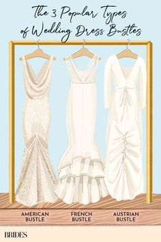 There are many different wedding dress bustle types to choose from—learn about each style before heading into your first fitting!