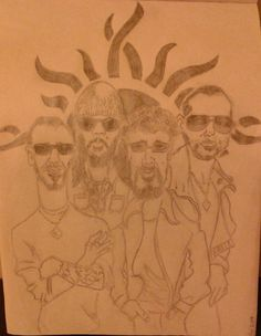 Drawing inspired by my Godsmack caricature t-shirt #Godsmack #FanArt #ShannonLarkin #sullyerna #tonyrombola #robbiemerrill