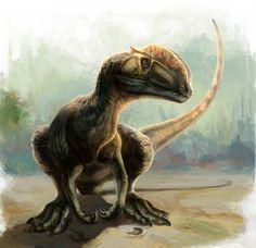Dilophosaurus Rest by ~cheungchungtat
