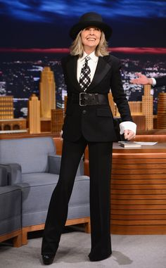 Diane Keaton is by far one of our favorite women in Hollywood. She's candid about all the men she wants to kiss, wears her laugh lines with pride and of course, has one of the most iconic wardrobes...