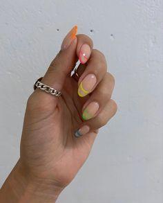 Minimalist Nails, French Nails, Nails Only, French Nail Designs, Long Acrylic Nails, Dream Nails, Neon Nails, Nagel Gel, Nail Inspo