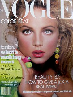 Throwback Thursday: 1987!  How gorgeous does her skin and makeup look?