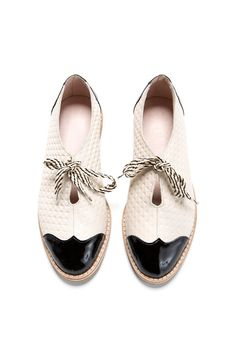 Oxford flat shoes - HAPPY 2016 SALE 30% OFF - white and black oxford shoes - tie…