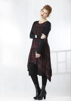 Moss - heavenly layer print dress  Silk crepe georgette tartan print layering dress. $539 *sigh* Too expensive, but gorgeous