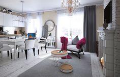 false fireplace, Gray 07, kork table, Curations Limited, modern classic interior, design interior by Nataly Yanson, iamhome. Фальш-камин, гостиная, современная классика, арт в интерьере.