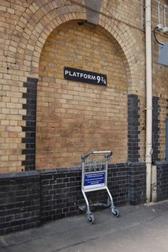 See the Platform 9 3/4 HP tribute at Kings Cross Station in London.
