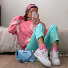 Cute Casual Outfits, Retro Outfits, Teenage Outfits, Aesthetic Fashion, Aesthetic Clothes, Mode Pastel, Instagram Outfits, Look Cool, Spring Outfits