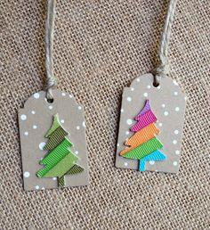 I'm in Haven: Christmas Tags Round 1-die cut ribbon Christmas tree tags