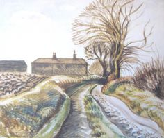 I write in a personal, entertaining way about century British artists, including Ravilious & Paul Nash, & about the places that inspired them. Watercolor Architecture, Watercolor Landscape, Landscape Art, Landscape Paintings, Watercolor Art, Royal College Of Art, Linocut Prints, Traditional Art, Art Images