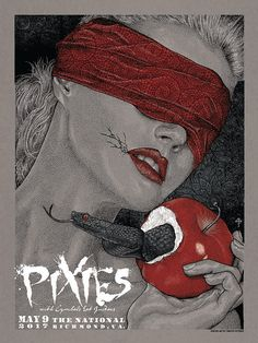 Pixies Poster by Timothy Pittides (Onsale Info) Tour Posters, Band Posters, Music Posters, Rock Roll, Pixies Band, Pop Culture Art, Culture Club, Music Flyer, Music Album Covers