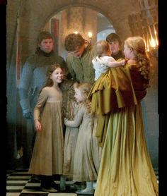 The White Queen - queen Elizabeth Woodville and king Edward IV with children