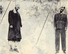 The execution of Qazi Mohammed the leader of Mahabad republic of Kurdistan by the Iranian Regime .