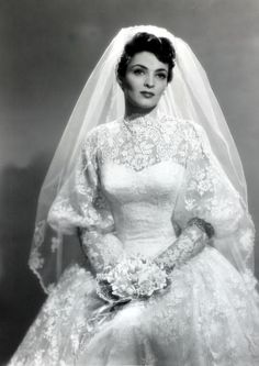 Suzan Ball, in her wedding gown, actress wife of Richard Long (Big Valley, Nanny and the Professor), who died at age 21. Had already been stricken with cancer at the time of her marriage.