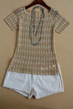 Crochet Knitting Handicraft: lovely blouse