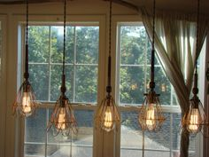 Spindle and Cage Chandelier by glow828 on Etsy, $375.00