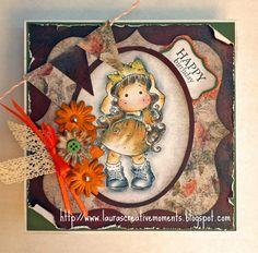 "Happy Birthday (Magnolia image and Glitz Paper ""French Kiss"")"