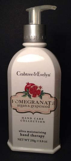 Crabtree & Evelyn Pomegranate argan & grapeseed Ultra Moisturizing Hand Therapy Retail $36.00 My price $10.00 OBO Makeup For Sale, Hand Therapy, Hand Care, Pomegranate, Retail, Hands, Granada, Pomegranates, Sleeve
