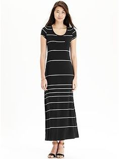 Womens Pocket-Tee Maxi Dresses