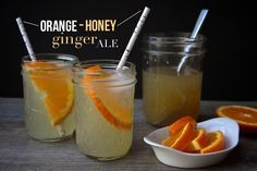 Orange Honey Ginger Ale Mmakes about a quart of syrup recipe from the Homemade Soda Cookbook 1 quart water  2 1/4 cups sugar 3/4 cup mild honey, such as orange blossom 3 oz. fresh ginger, peeled & grated (about 1/2 cup) juice of 1 orange Combine the water, sugar, honey, ginger and orange juice in …