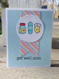 get well soon | Lawn Fawn