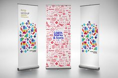 Roll Up - Mockup 1 Graphics Advanced, easy to edit mockup. It contains everything you need to create a realistic look of your pr by alexvisual Rollup Design, Rollup Banner Design, Exhibition Banners, Pop Up Banner, Business Card Mock Up, Environmental Design, Expo, Flag Design, Portfolio Design