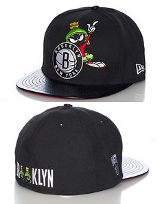 Brooklyn NY USA Elephant Print Black Gray Red New Era 59Fifty Fitted Hat Cap
