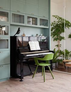 House in Taiwan, C (Photo: Hey! Cheese) - Decoration For Home Piano Living Rooms, Piano Room, Living Room Carpet, Living Room Decor, Home Office Design, Home Office Decor, Home Decor, Music Studio Room, Living Room Tv Unit Designs
