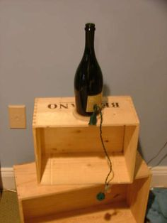 step by step instructions for making a wine bottle lamp