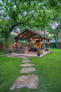 Backyard Pavilion, Backyard Patio Designs, Pergola Patio, Backyard Landscaping, Patio Ideas, Small Pergola, Pergola Designs, Backyard Projects, Pergola Plans