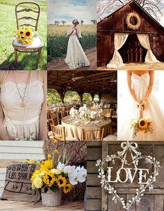 Rustic Sunflowers Wedding Inspiration