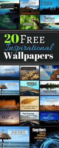 Download 20 Inspirational Desktop Wallpapers for Free. Each Free Wallpaper has an inspirational quote. There's quotes from Albert Einstein, Aristotle, Arthur Schopenhauer, Antoine de Saint-Exupery and More