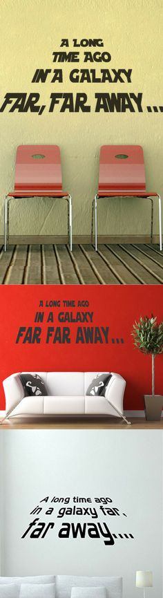 Star Wars Long Time Ago Wall Decals - Star Wars Gifts #starwars #galaxy #home
