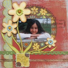Lovely Springtime Scrapbooking Page...