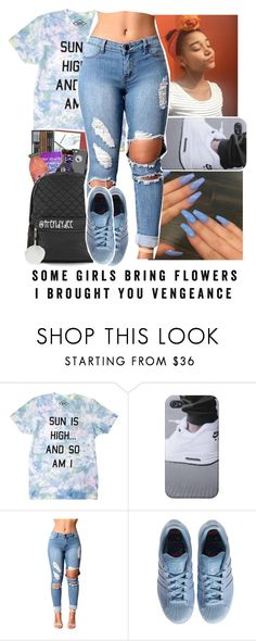 """""""My chick bad """" by baby-wavy ❤ liked on Polyvore featuring adidas"""