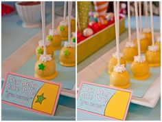 Sneetches cake pops