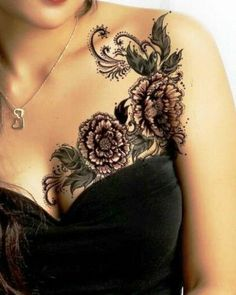 Gorgeous flower tattoo!