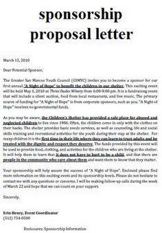 Sample Sport Event Sponsorship Proposal Template Free | golf