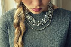 Lurex & necklace #StreetStyle #JohanssonSisters #IN2ITIONSTYLE